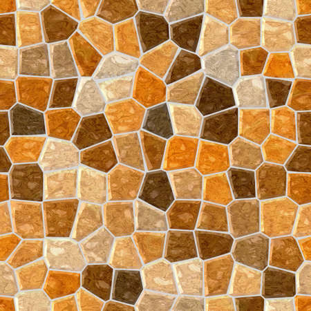 surface floor marble mosaic pattern seamless background with gray grout - orange and brown color 版權商用圖片