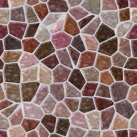 surface floor marble mosaic pattern seamless background with gray grout - old pink, burgundy purple and brown color 版權商用圖片