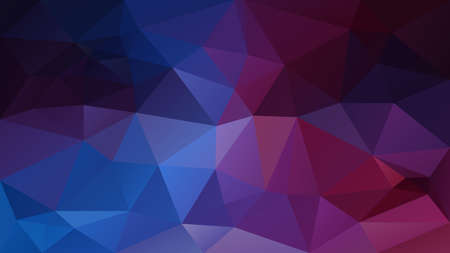 vector abstract irregular polygonal background - triangle low poly pattern - dark neon blue purple violet color