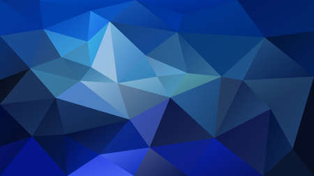 vector abstract irregular polygonal background - triangle low poly pattern - royal blue color