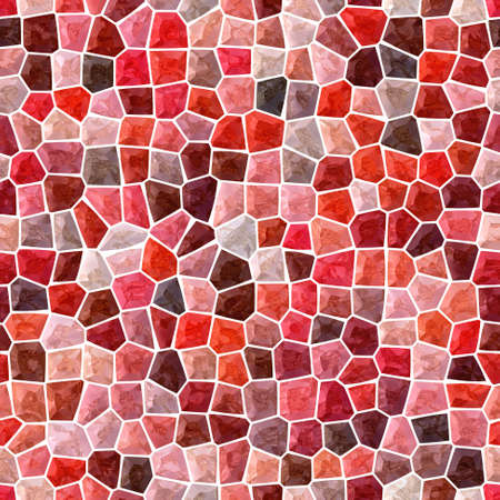 surface floor marble mosaic pattern seamless background with white grout - mohogany, maroon, peach, brown, orange and red color