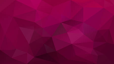 vector abstract irregular polygonal background - triangle low poly pattern - claret burgundy maroon magenta rasberry red pink color Çizim