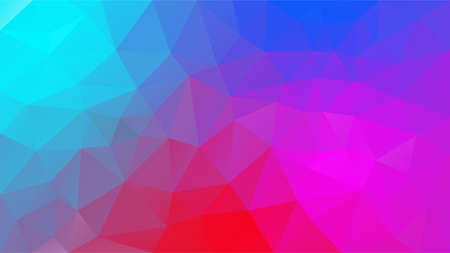 vector abstract irregular polygonal background - triangle low poly pattern - neon blue cyan pink magenta red purple violet color