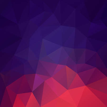 vector abstract irregular polygonal square background - triangle low poly pattern - red purple violet bue color gradient