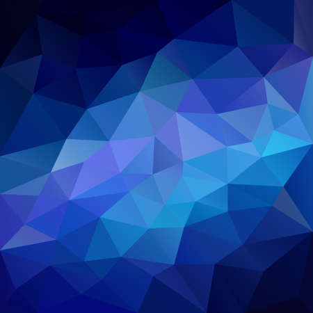 vector abstract irregular polygonal square background - triangle low poly pattern - neon blue dark to light color gradient
