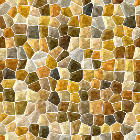 surface floor marble mosaic pattern seamless background with white grout - gold, beige, brown color