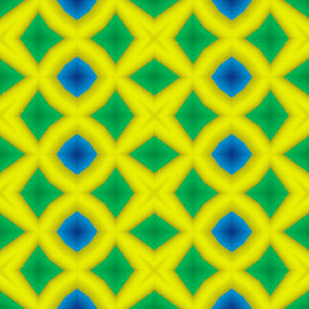 mosaic kaleidoscope seamless pattern texture background - vibrant yellow, blue and green colored Stockfoto