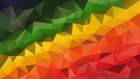 vector abstract irregular polygonal background - triangle low poly pattern - red orange yellow green color diagonal gradient