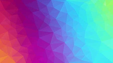 vector abstracto fondo poligonal irregular - patrón de triángulo bajo poli - espectro de color completo arco iris de neón - gradiente diagonal