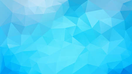 vector abstract irregular polygonal background - triangle low poly pattern - light vivid bright pastel blue color