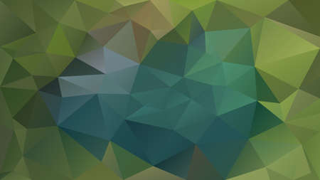vector abstract irregular polygonal background - triangle low poly pattern - natural leaf green, brown khaki and teal blue color