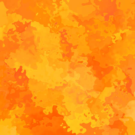 abstract stained pattern texture square background hot juicy orange and yellow color - modern painting art - watercolor effect