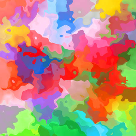 abstract stained pattern texture square background full color spectrum - modern painting art - watercolor effect