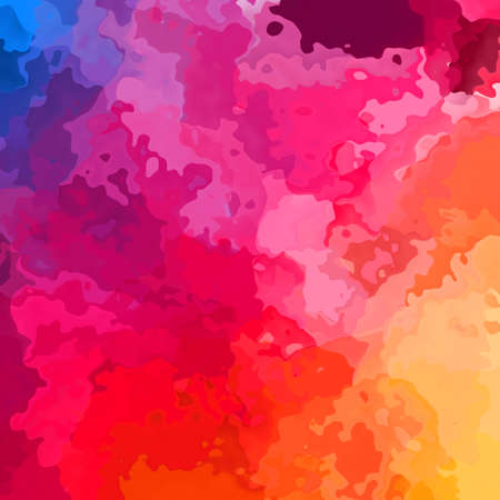 abstract stained pattern texture square background vibrant rainbow gradient of blue, purple, hot pink, orange and yellow color - modern painting art - watercolor effect