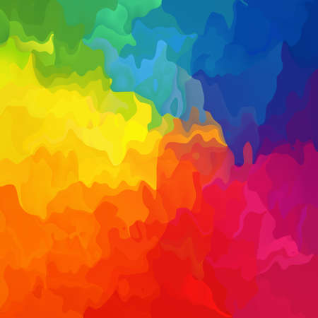 abstract stained pattern texture square background full color spectrum conical rainbow - modern painting art -  splotch effect