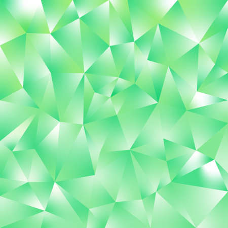 vector abstract irregular polygonal square background - triangle low poly pattern - fresh mint neon green color with diamond shine Illustration