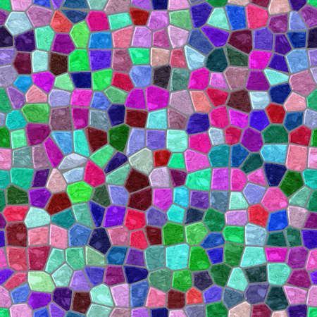 surface floor marble mosaic pattern seamless background with gray grout - full color spectrum