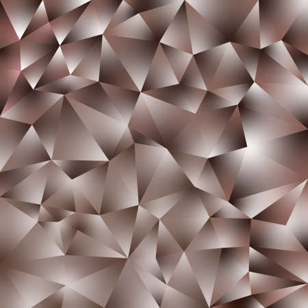 vector abstract irregular polygonal square background - triangle low poly pattern - brown color with diamond shine