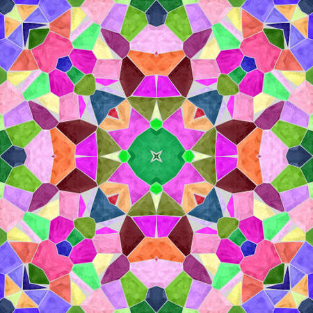 mosaic kaleidoscope seamless pattern texture background - full color spectrum colorful variegated colored with gray grout