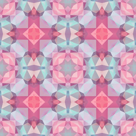 mosaic kaleidoscope seamless pattern texture background - baby soft pastel colors colored - pink, purple, violet, blue