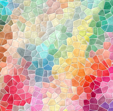 abstract nature marble plastic stony mosaic tiles texture background with gray grout - full color spectrum