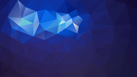 vector abstract irregular polygonal background - triangle low poly pattern - dark night sky blue color