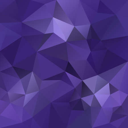 vector abstract irregular polygonal square background - triangle low poly pattern - ultra violet lavender purple color