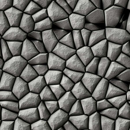 cobble stones irregular mosaic pattern texture seamless background - pavement gray natural colored pieces