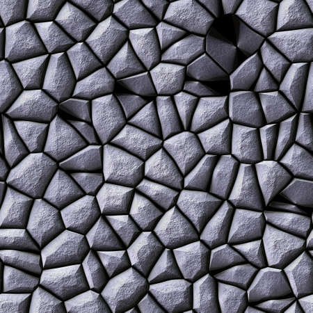 cobble stones irregular mosaic pattern texture seamless background - pavement gray silver natural colored pieces