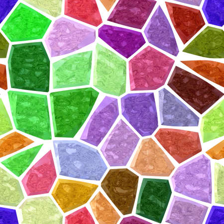 surface floor marble mosaic pattern seamless background with white grout - full color rainbow spectrum - green, blue, pink, purple, violet, maroon, yellow, orange Reklamní fotografie