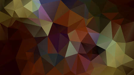 vector abstract irregular polygonal background - triangle low poly pattern - autumn brown green khaki purple color