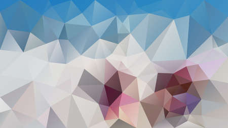 vector abstract irregular polygonal background - triangle low poly pattern - sky blue, ivory white, gray, mauve and taupe color