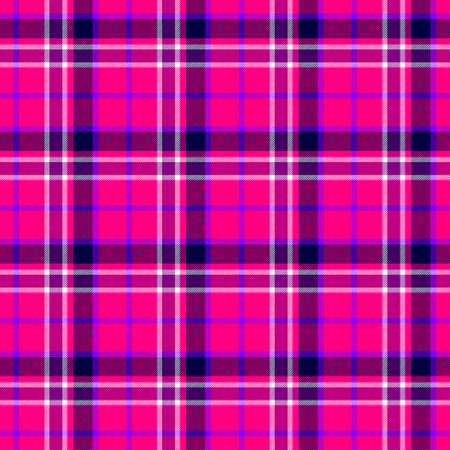 checked diamond tartan plaid scotch kilt fabric seamless pattern texture background - color hot pink, fuchsia, orchid, magenta, purple, violet, white