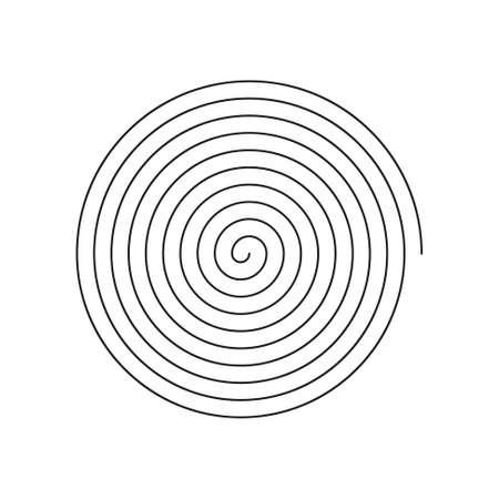 Vector icono de espiral lineal de arte de línea simple - blanco y negro