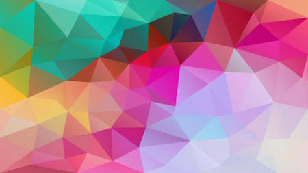 vector abstract irregular polygon background - triangle low poly pattern - neon full spectrum multi color rainbow - blue green cyan hot pink magenta purple violet red yellow orange