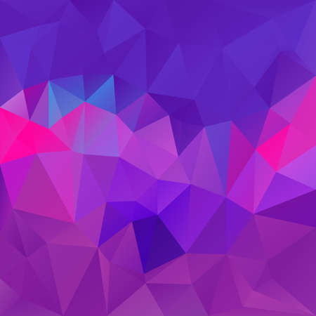 vector abstract irregular polygon square background - triangle low poly pattern - trendy purple violet pink blue fuchsia colors
