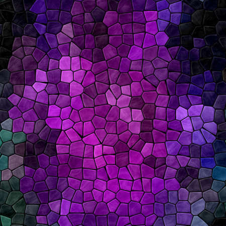 abstract nature marble plastic stony mosaic tiles texture background with black grout - dark purple, fuchsia, pink, violet, green, mauve colors Reklamní fotografie