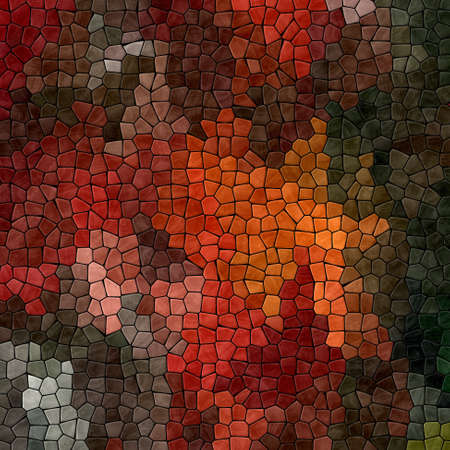 abstract nature marble plastic stony mosaic tiles texture background with black grout - red, orange, brown, khaki and gray colors 版權商用圖片
