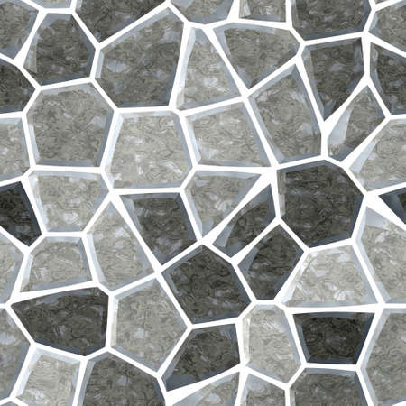 surface floor marble mosaic pattern seamless background with white grout - warm gray grey color
