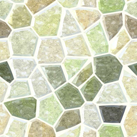 surface floor marble mosaic pattern seamless background with light yellow grout - pastel green khaki beige taupe color