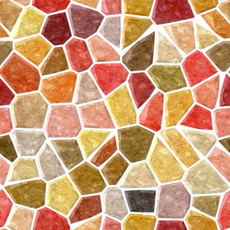 surface floor marble mosaic pattern seamless background with white grout - red maroon mauve orange yellow green khaki beige color