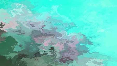 abstract stained pattern texture rectangle background blue green cyan lagoon aqua gray color - modern painting art - watercolor splotch effect 写真素材 - 118062353