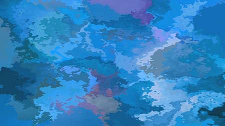 abstract stained pattern texture rectangle background blue teal purple color - modern painting art - watercolor splotch effect