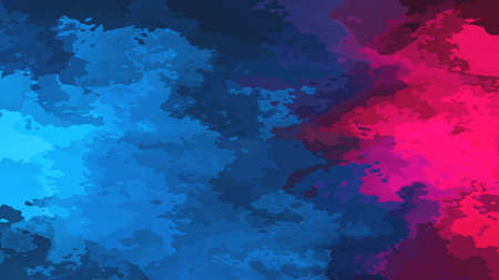 abstract stained pattern texture rectangle background navy blue and hot pink magenta color - modern painting art - watercolor splotch effect Stock Photo
