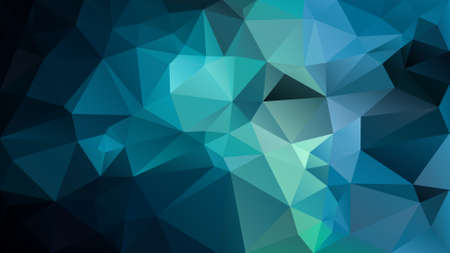 vector abstract irregular polygon background - triangle low poly pattern - dark navy, teal, cyan, aqua, blue green color