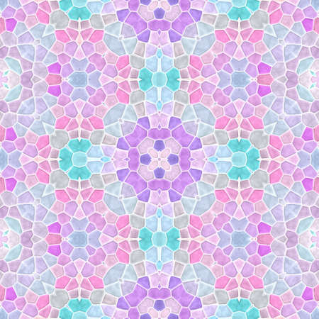 mosaic kaleidoscope seamless pattern texture background - pastel pink blue purple violet gray mauve colored with white grout