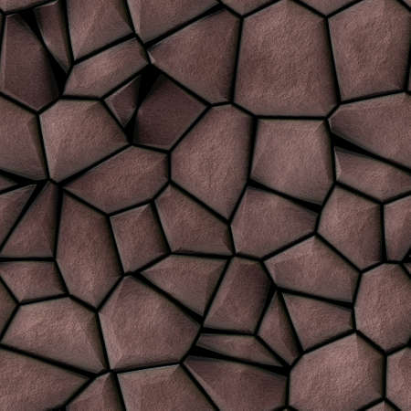 cobble stones irregular mosaic pattern texture seamless background - pavement brown natural colored pieces