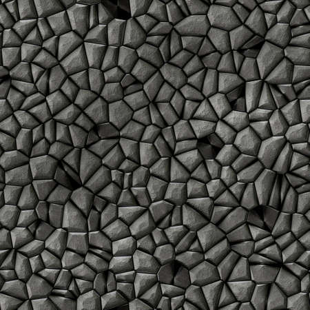 cobble stones irregular mosaic pattern texture seamless background - pavement gray black natural colored pieces 版權商用圖片