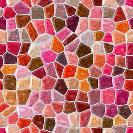 surface floor marble mosaic pattern seamless background with gray grout - red, pink, maroon, mauve, brown color 版權商用圖片