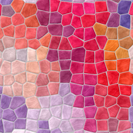 abstract nature marble plastic stony mosaic tiles texture background with gray grout - hot chili red, pink, magenta, orange, puprle, violet colors